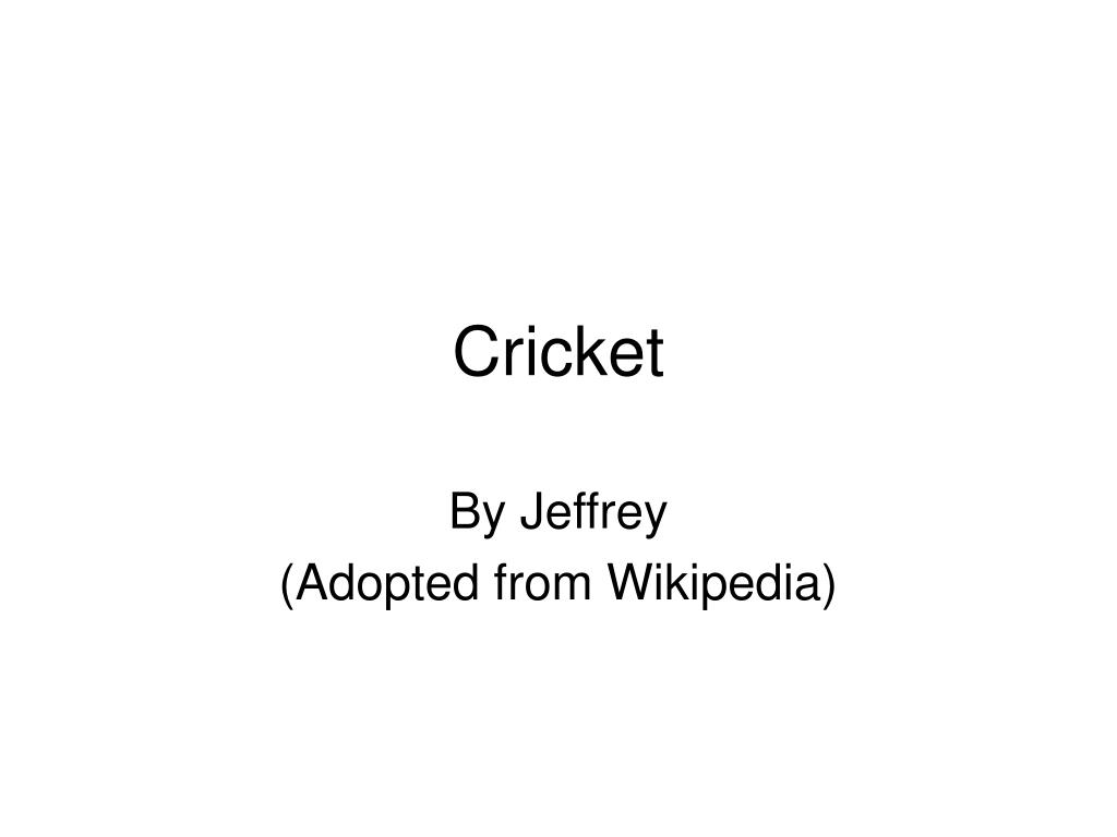 cricket l.