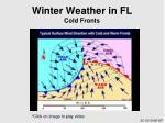 winter weather in fl cold fronts