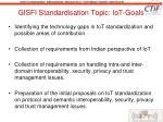 gisfi standardisation topic iot goals