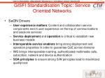 gisfi standardisation topic service oriented networks