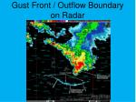 gust front outflow boundary on radar