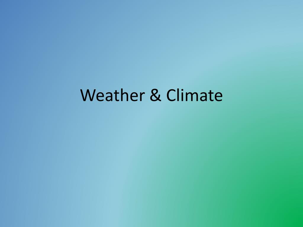 weather climate l.