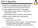 ssh 2 specifics