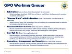 gpo working groups