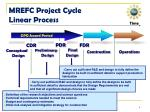 mrefc project cycle linear process