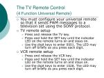 the tv remote control 4 function universal remote