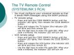the tv remote control systemlink 3 rca