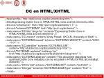 dc en html xhtml