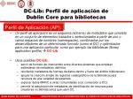 dc lib perfil de aplicaci n de dublin core para bibliotecas