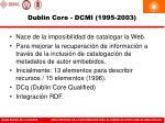 dublin core dcmi 1995 2003