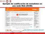 ejemplo de codificaci n de metadatos en una sede web dcmi