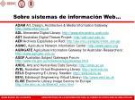sobre sistemas de informaci n web