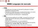 www lenguajes de marcado