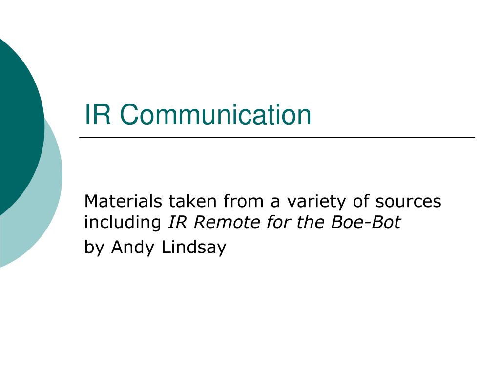 ir communication l.