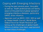 coping with emerging infections