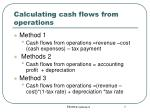 calculating cash flows from operations