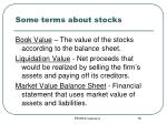 some terms about stocks