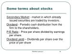 some terms about stocks16