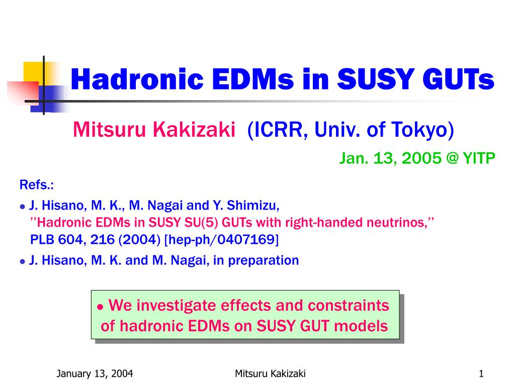 hadronic edms in susy guts l.