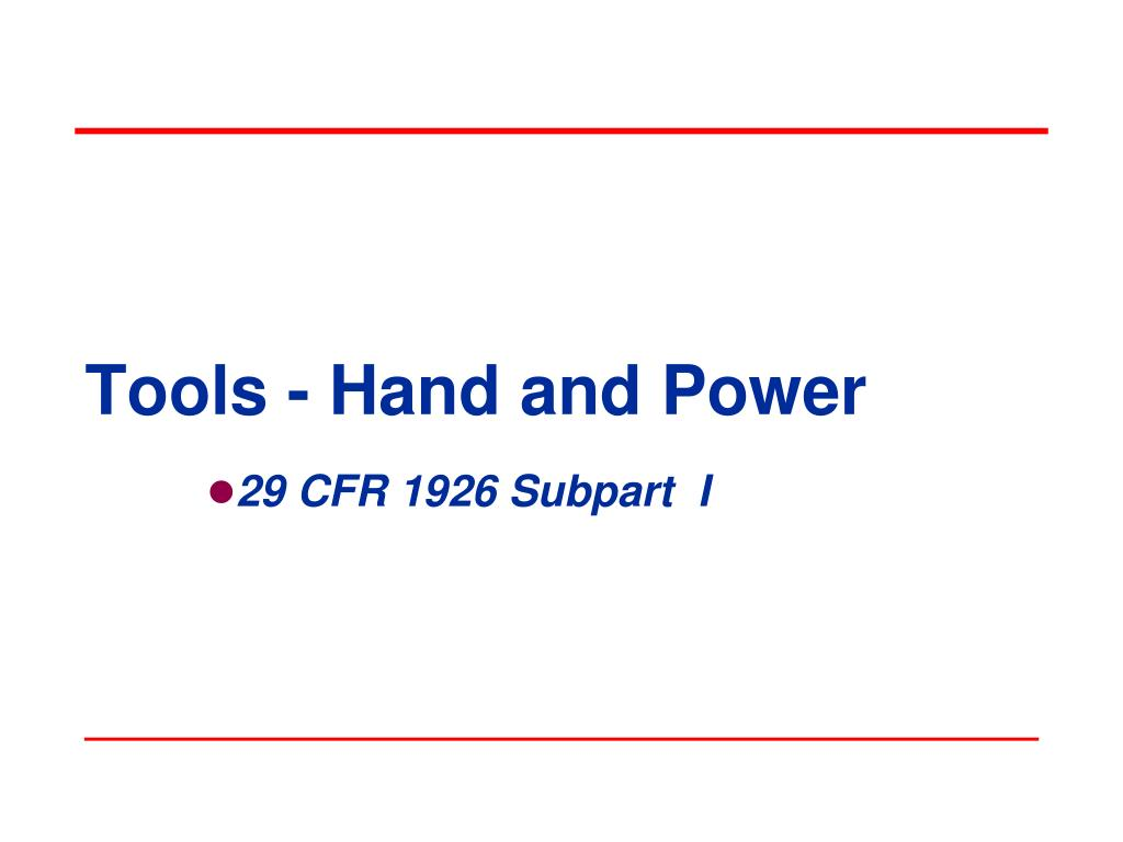 tools hand and power l.