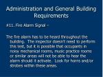 administration and general building requirements62
