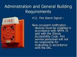 administration and general building requirements63