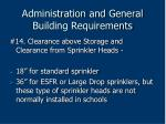 administration and general building requirements68