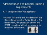 administration and general building requirements74