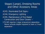 stages large dressing rooms and other accessory areas184