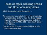 stages large dressing rooms and other accessory areas186