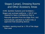 stages large dressing rooms and other accessory areas189