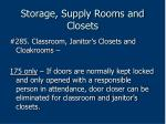 storage supply rooms and closets205