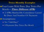 twice monthly examples53