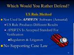 which would you rather defend