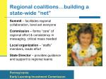 regional coalitions building a state wide net