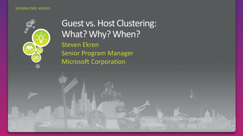 guest vs host clustering what why when l.