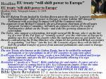 eu treaty will shift power to europe