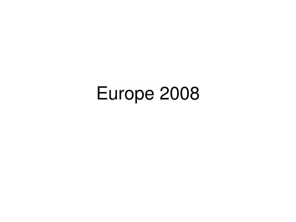 europe 2008 l.