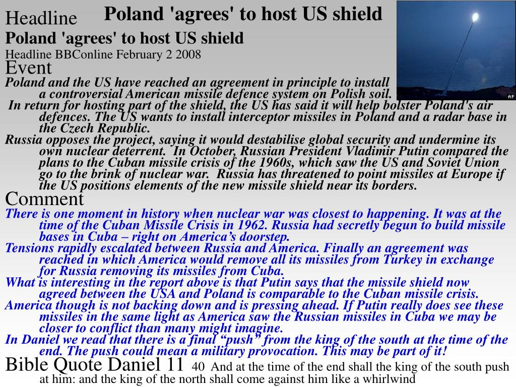 Poland 'agrees' to host US shield