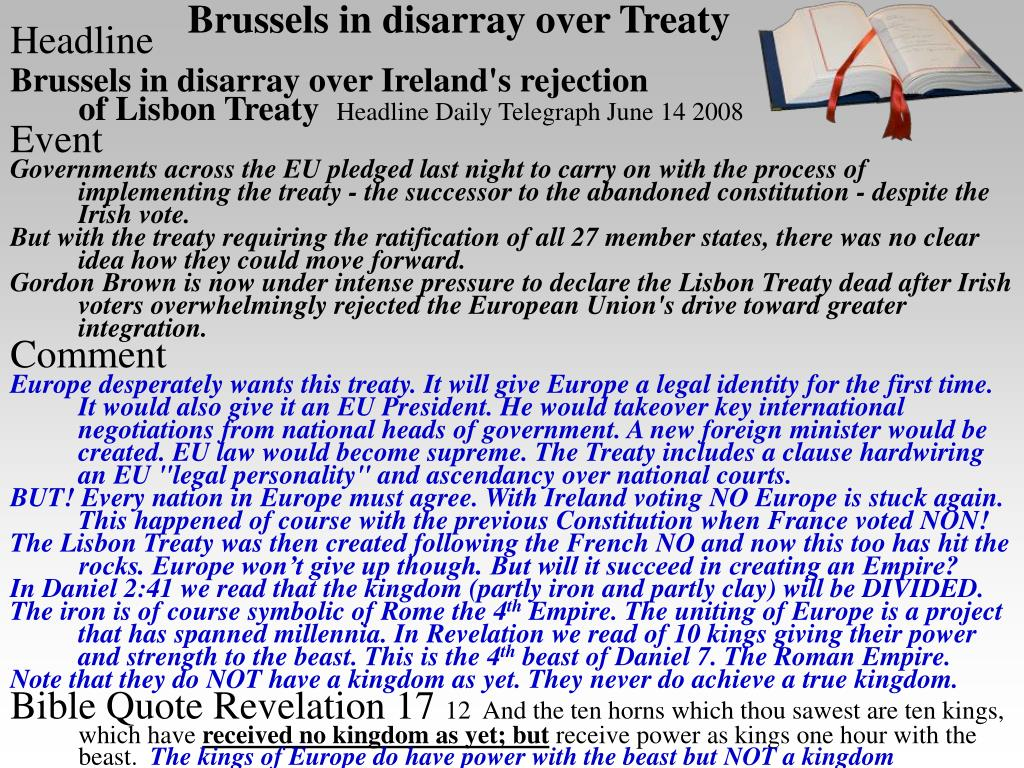 Brussels in disarray over Treaty