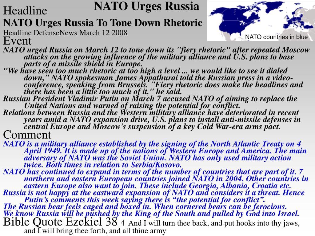 NATO Urges Russia