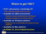 where to get vnc