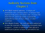 authority sections from chapter 1