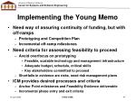 implementing the young memo