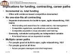 implications for funding contracting career paths