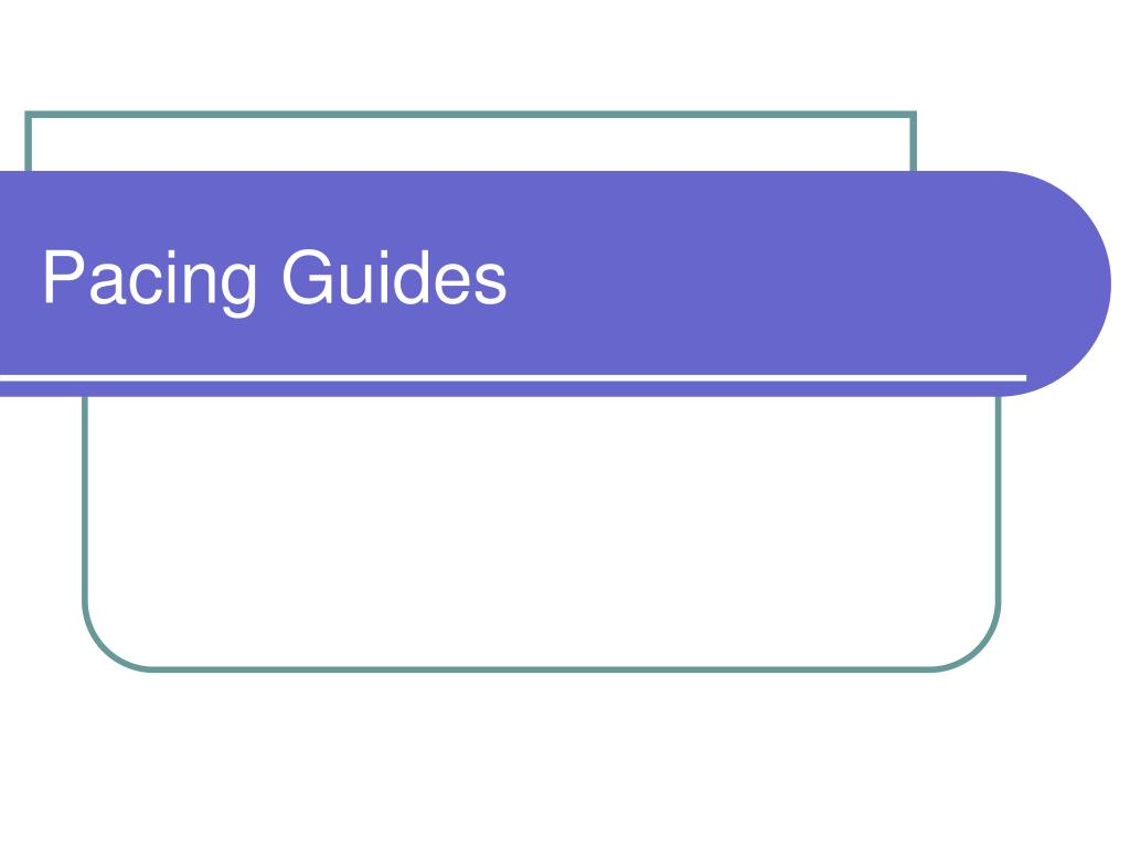 pacing guides l.