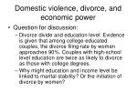 domestic violence divorce and economic power