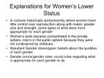 explanations for women s lower status