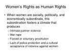 women s rights as human rights
