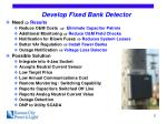 develop fixed bank detector
